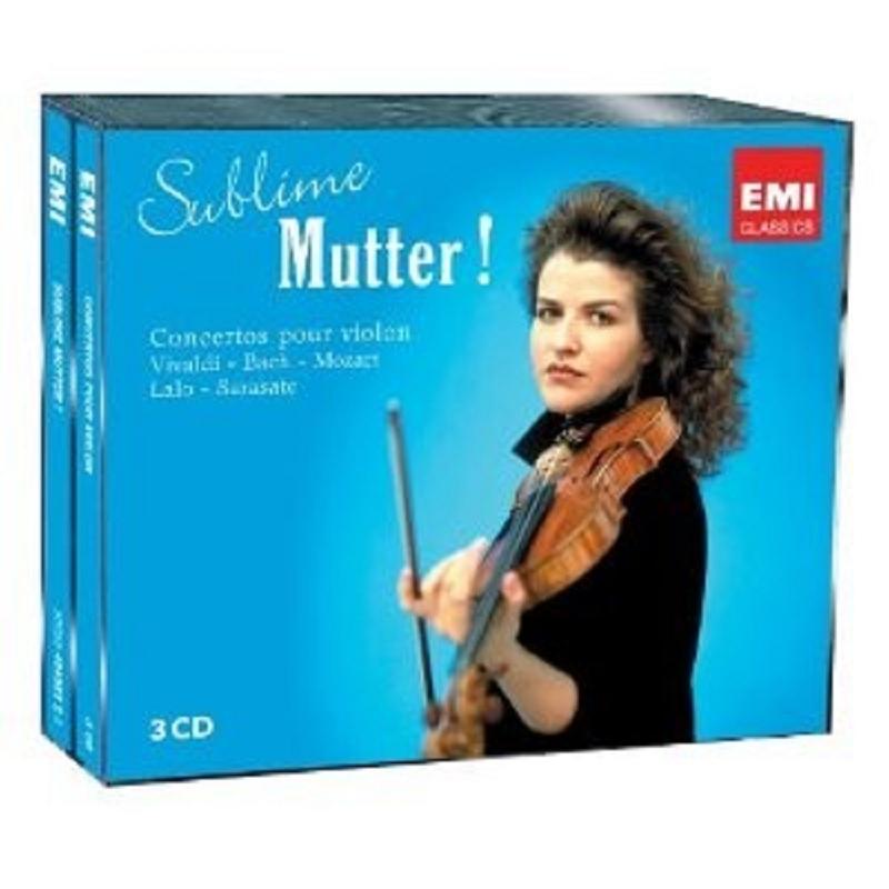 ANNE-SOPHIE MUTTER - SUBLIME MUTTER! 3 CD NEU VIVALDI/MOZART/BACH/LALO/MASSE